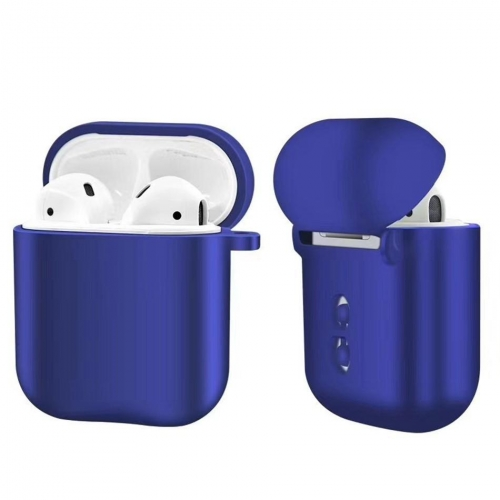 Luxury Metal AirPods Case Silicone Shockproof Cover with Pearl Bracelet