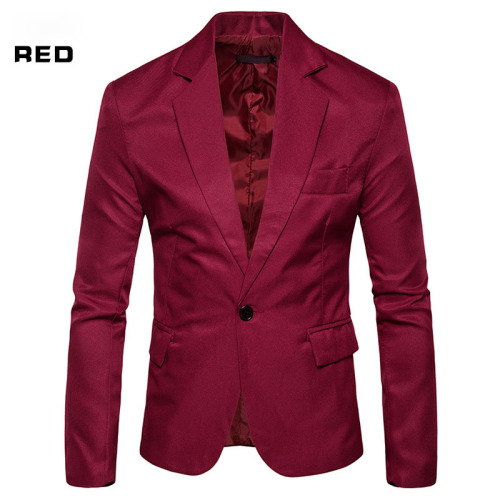 Men's Slim Solid Color Suit