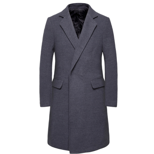 Long Sleeve Winter Coat Men Black Grey Overcoat Korean Business Men'S Coat