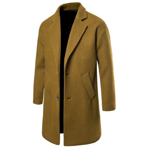 Men Solid Autumn Overcoat Men Casual Korean Style Men'S Coat