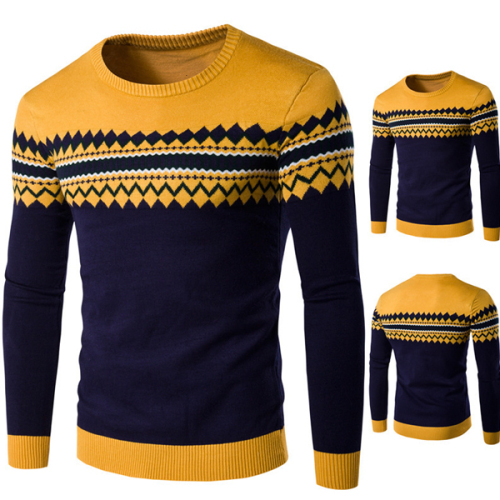 Men Long Sleeve Knitted Sweater High Quality Winter Pullovers