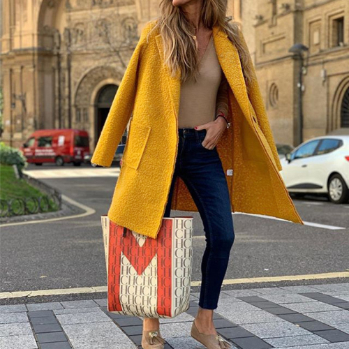 New Fashion Autumn Winter Long Plush Jacket Women Casual Single Button Solid Long Oversize Coat
