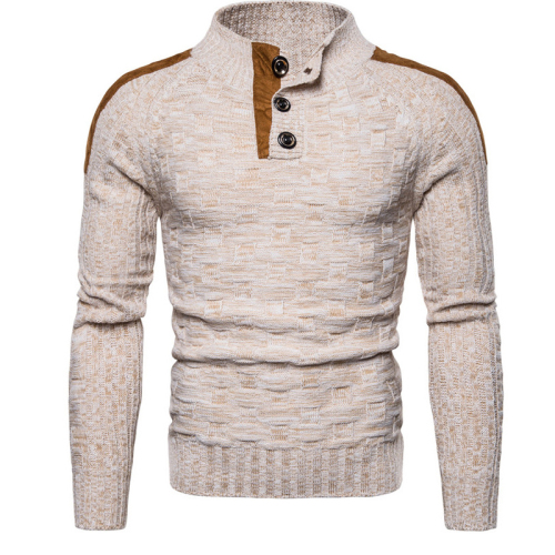 Men's Sweater Pullover Cotton Sweatercoat Youth Slim Fashion Casual Clothes Winter Warm  Sweater