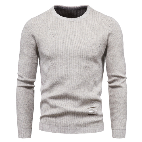 Men's Knitting Pullover Solid Long Sleeve O-neck Loose Winter Warm Casual Fashion Male Sweater