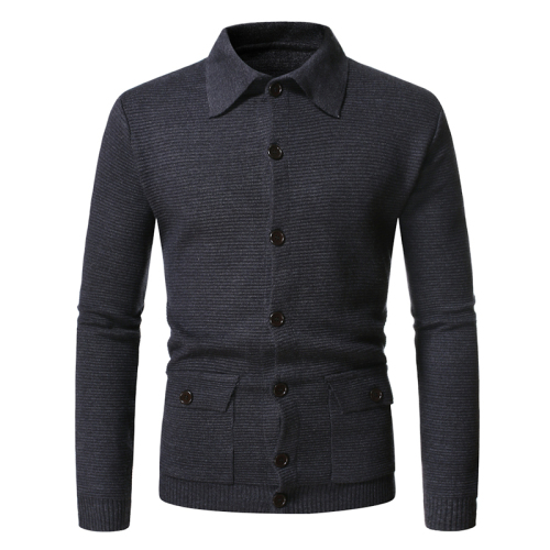 2020 Men Turn-down Collar Cardigan Warm Autumn Winter Comfortable Slim  Knitted Male Sweater