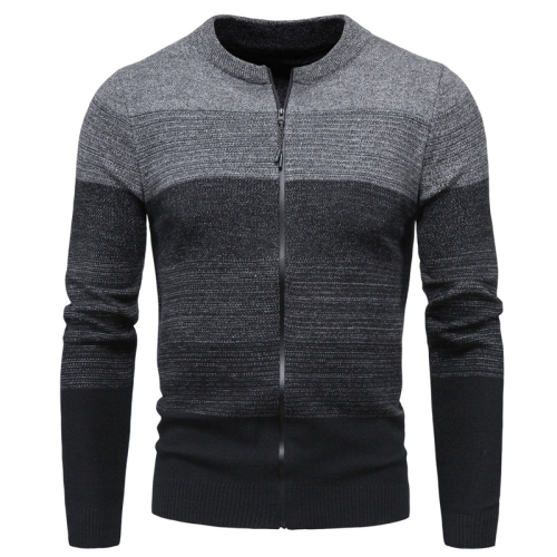 New Autumn Clothing Men's Knitwear Cross-Border Fashion Variegated Cardigan Sweater