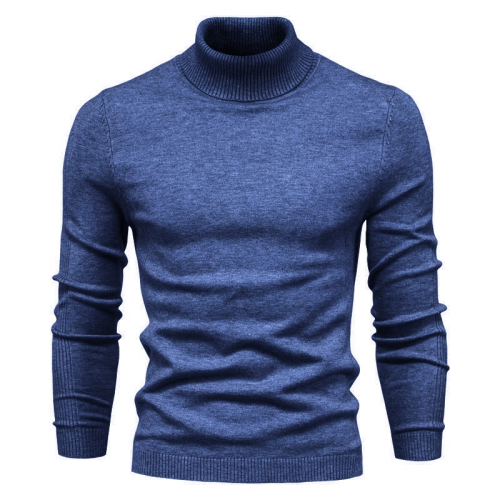 2020 New Winter Men Turtleneck Sweater Casual Solid Color Warm Pullover High Quality Slim High Neck Long Sleeve Sweater
