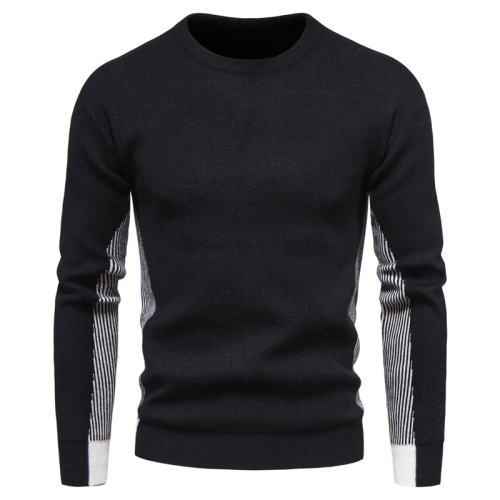2020 New O-neck Pullovers Mens Sweater Casual Color Matching Striped Sweater Men Autumn Fashion Slim Fit Men's Sweater