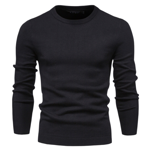 2020 New O-neck Pullover Men's Sweater Casual Solid Color Warm Sweater Men Winter Fashion Slim Mens Sweaters