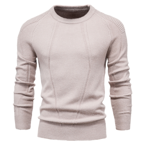 Autumn Winter Pullover Solid Color Men's Sweater O-neck Geometry Sweater Men Casual Fashion Pull Slim Sweaters