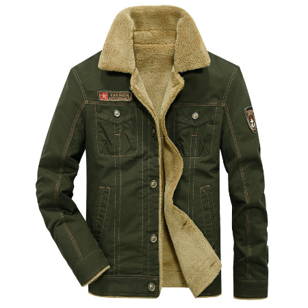 Military Men Pilot jacket Autumn Winter Plus velvet Lining Casual coat men thick Air Force One jacket