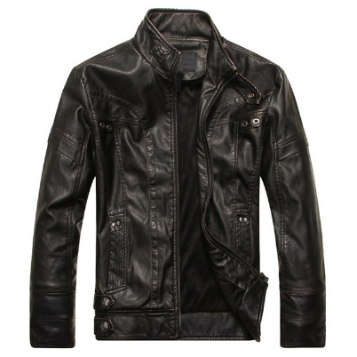 New Men's Leather Jackets Motorcycle PU Jacket Male Autumn Casual Leather Coats