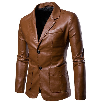 Leather Jacket Men Spring and Autumn 2020 New Men's Fashion PU Leather Jacket