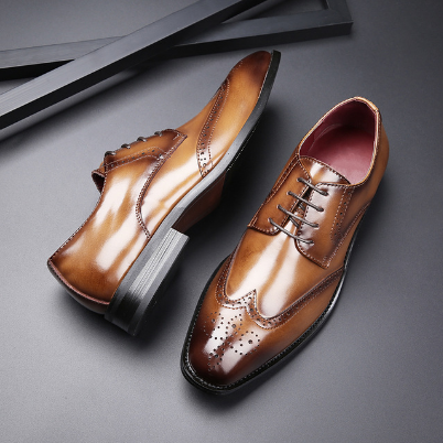 Men's Genuine Leather Formal Derby Shoes