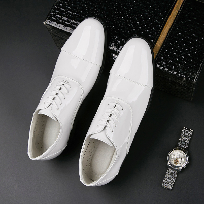 New Large Size Leather White Business Leather Shoes Formal Leather Shoes Breathable Men's Shoes Casual Shoes