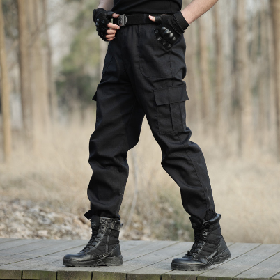 2021 Outdoor Cargo Overalls commando black Multi-pocket Labor protection security guard field jungle tactical pants