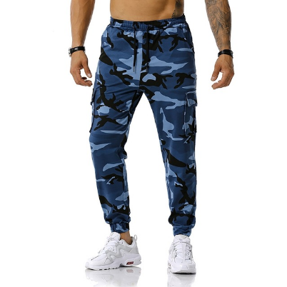 New men's stitching camouflage jogging pants Fashion casual outdoor sports trouse