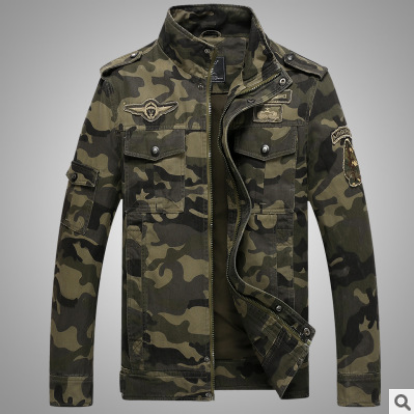 NEW Spring Autumn Camouflage Military Jacket Men Slim Fit Cotton Men Camo Army Coat