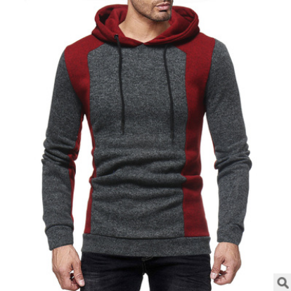 Men Hip Hop Mens Patchwork hooded Hoodie Sweatshirt Slim Men Pullover