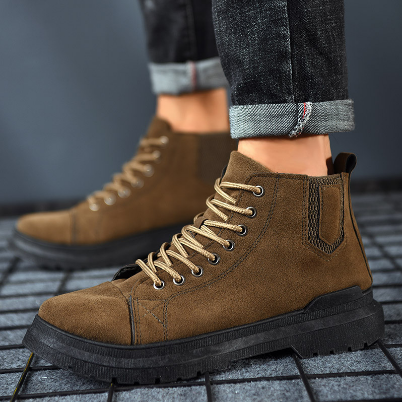 Military Boots Men Leather Waterproof Lace Up Winter Men Boots Ankle Lightweight Shoes f