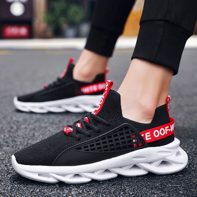 Summer Men's Breathable Casual Sports Shoes Fashion Men's Running Shoes Trend Blade Bottom Men's Shoes T