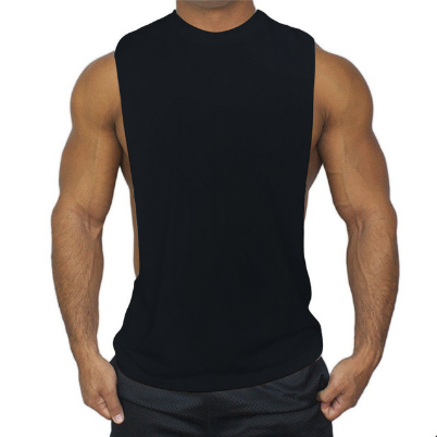 Male Fitness Tank Tops Gyms Vest Solid Color Quick Drying Workout Clothe Sleeveless O-neck Sports Vest