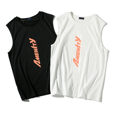 New tank top Men Sleeveless Letter Printing Loose Sports Vest Men Clothing Summer Sports Vest