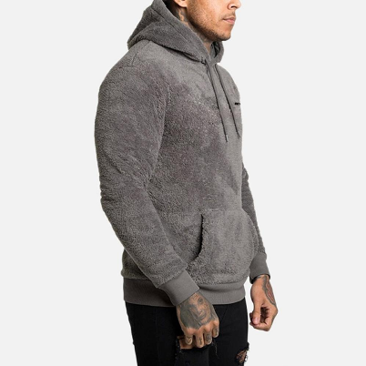 2021 Men Hoodies Sweatshirts Autumn Winter Warm Pullovers Double-Sided Plush Long Sleeve Hooded