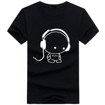 Men T-Shirts Top Quality TShirts Fashion DJ Carton Boy Character Printed Summer Tops