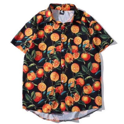 Summer Mens Short Sleeve Beach Hawaiian Shirts Casual 3D Printed Shirts