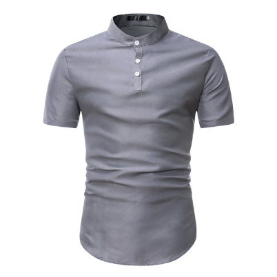 2021 New Fashion Brand Short Sleeve Shirt Men Korea Men Korean Slim Design Formal Casual Men Shirt