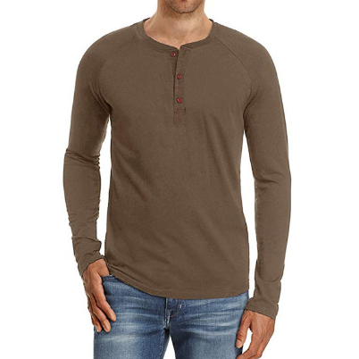 Mens Long Sleeve Fashion Casual Fit T-Shirts Comfortable Outerwear