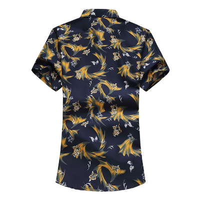 Hawaiian Shirt Mens Clothing Camisa masculina slim fit Flower Blouse Men Floral Print New Model Shirts