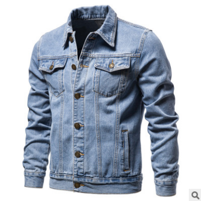 Spring Autumn Denim Jacket Men Casual Solid Streetwear Mens Cowboy Jackets Fashion Multi-pockets Jeans