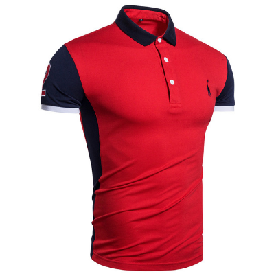 New Cotton POLO Giraffe Brand Embroidery Polo Shirt Men High Quality Short Sleeve Casual Business Mens Polos