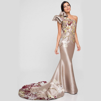 2021 One Shoulder Dress New Floor-length Evening Gown Women Elegant Fashion Mermaid Dresses