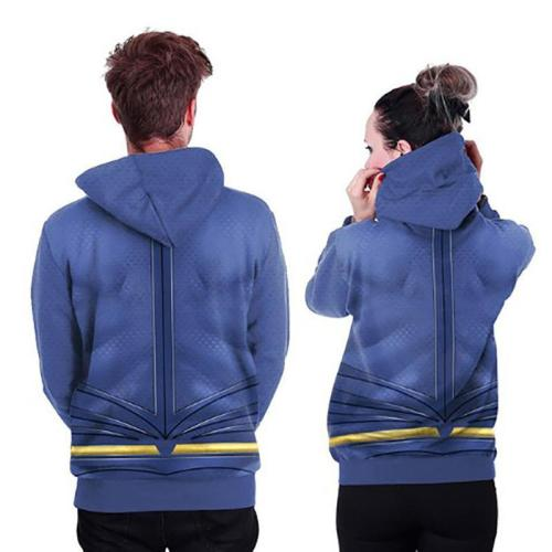 Hooded  Contrast Stitching  Cartoon Hoodies