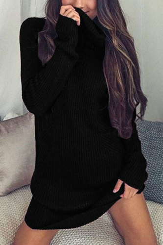 Fashion Women Casual Long Knitted Oversize Long Sleeve Jumper Sweaters Shirt Tops Dresses