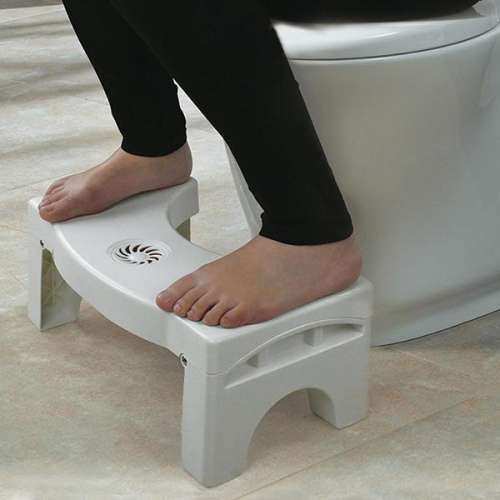 Folding Multi-Function Toilet Stool Portable Step for Home Bathroom