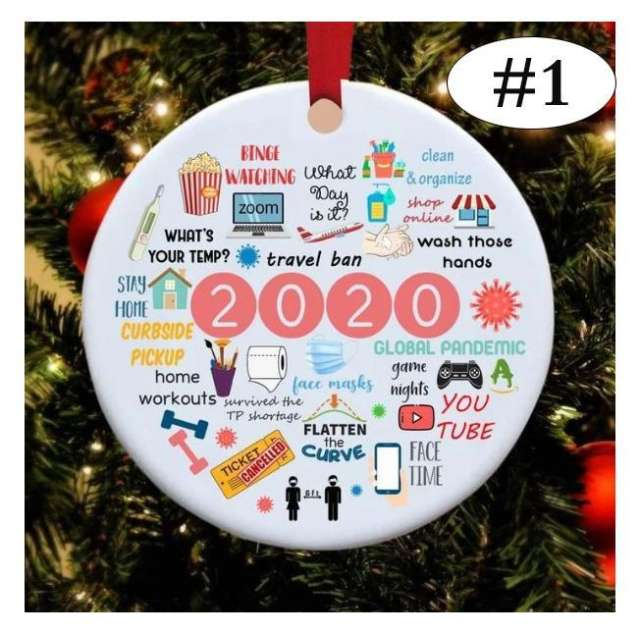 2020 Annual Events Christmas Ornament Christmas tree pendant