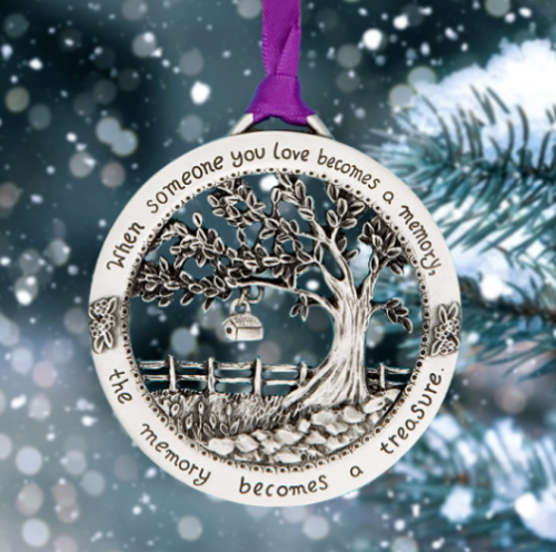 Merry Christmas Memorial Ornament - When Someone You Love Becomes a Memory