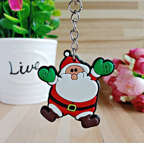 {45% OFF TODAY !} -  Christmas Keyring Soft PVC Keychain Creative Pendant Decorations for Car Key Purse Bag Gift ,Pack of 10