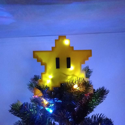 Pixel Star Christmas Tree Topper