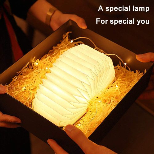 Folding LED Wooden Accordion Lamp Book Lamp