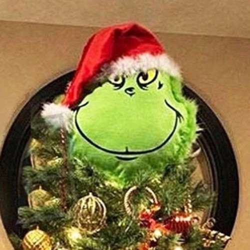 Furry Green Grinch Arm Ornament Holder for The Christmas Tree for Christmas Home Party