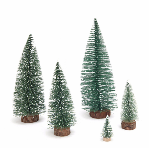 Christmas mini Christmas tree with white cedar flocking desktop window decoration Small Christmas decorations