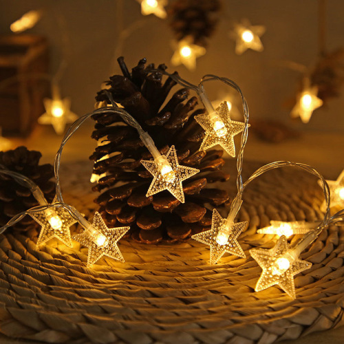 LED light star light room bedroom decoration Lantern Festival Christmas lights small flashing lights colored li