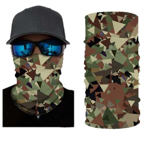 Camouflage BANDANAS HEADBAND SHIELD UNISEX NECK GAITER FOR OUTDOOR SPORTS