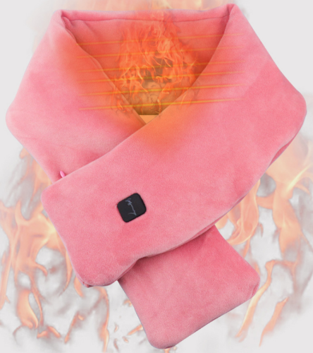 USB Heated Scarf Rechargeable Heating Scarf Neck Heating Pad Shawl Warm Neck