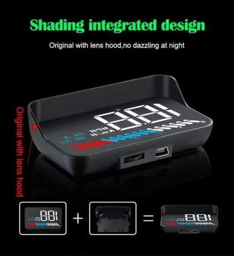 New Universal M7 GPS HUD Car OBD2 HUD Head Up Speed Display OBD On-board Computer Overspeed Warning
